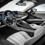 BMW i8 production interior from drivers side