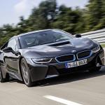 Black-2014-BMW-i8-plug-in-hybrid-front-quarter-view
